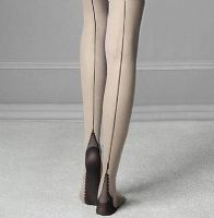 Fiore Sin Vintage Style Seamed Tights